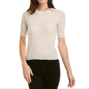 Vince | Cream Cashmere Elbow Sleeve Sweater | M